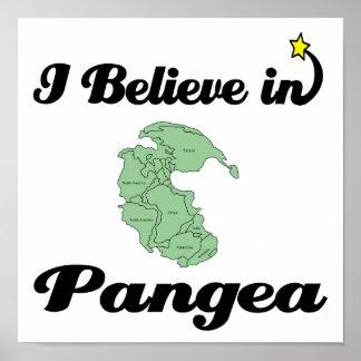i believe in pangea poster