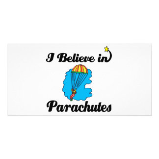 i believe in parachutes photo greeting card