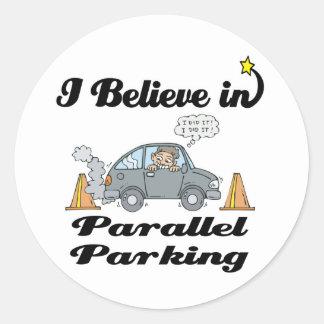 i believe in parallel parking sticker