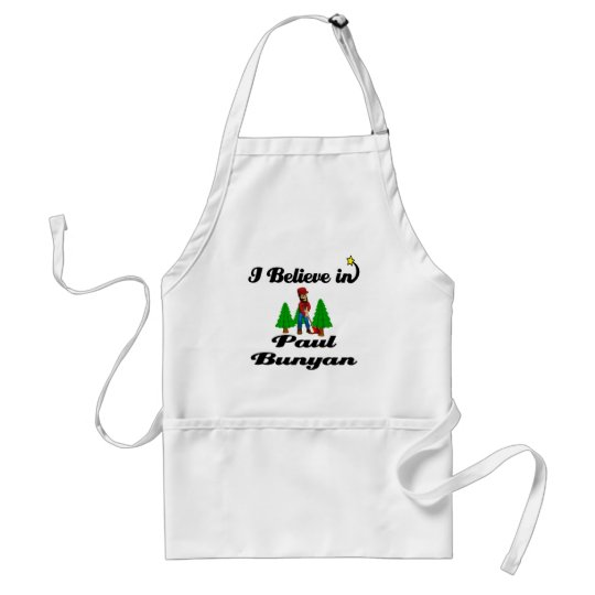 i believe in paul bunyan adult apron