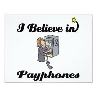 i believe in payphones personalized invites