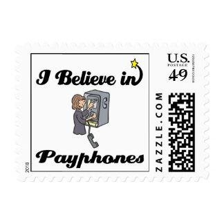 i believe in payphones stamps