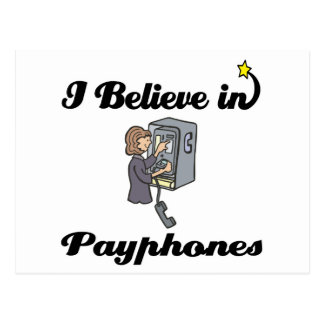 i believe in payphones postcard