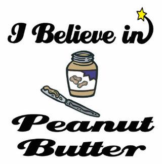 i believe in peanut butter standing photo sculpture