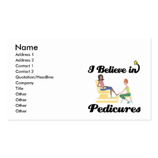 i believe in pedicures Double-Sided standard business cards (Pack of 100)