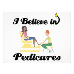 i believe in pedicures personalized announcement