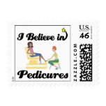 i believe in pedicures postage stamp
