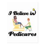 i believe in pedicures postcards