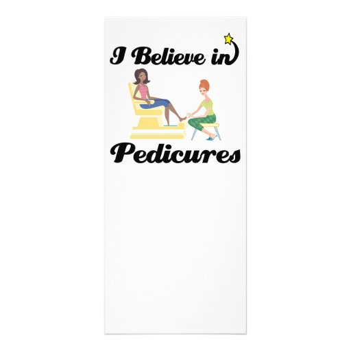 i believe in pedicures rack cards