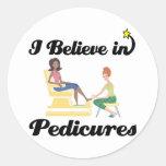 i believe in pedicures stickers