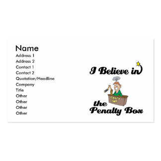 i believe in penalty box Double-Sided standard business cards (Pack of 100)