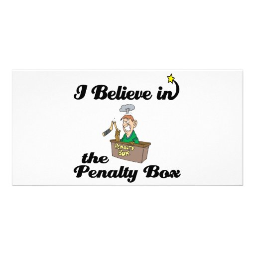 i believe in penalty box personalized photo card