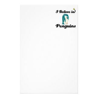 i believe in penguins stationery
