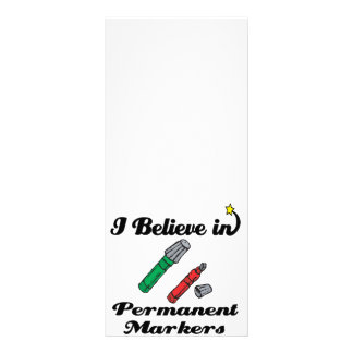 i believe in permanent markers rack cards