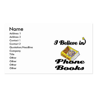 i believe in phone books Double-Sided standard business cards (Pack of 100)