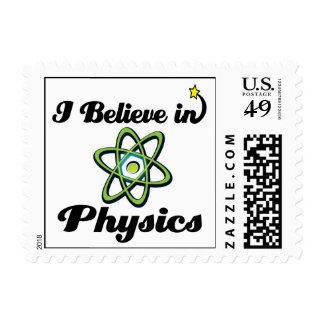 i believe in physics postage