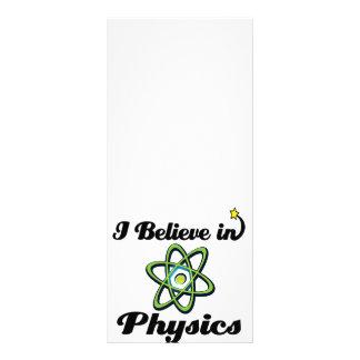 i believe in physics rack card design