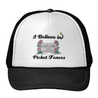 i believe in picket fences trucker hat