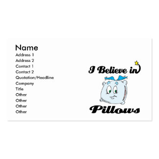 i believe in pillows Double-Sided standard business cards (Pack of 100)