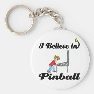 i believe in pinball keychain