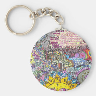 I Believe in PInk Key Chains