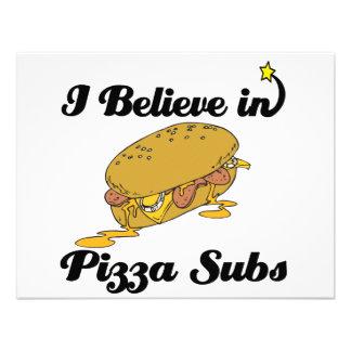 i believe in pizza subs custom invitation