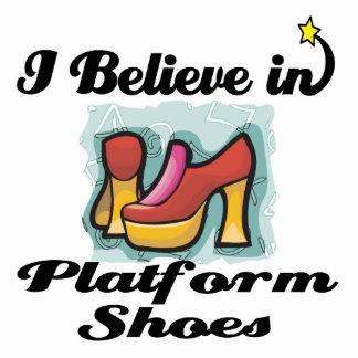 i believe in platform shoes standing photo sculpture