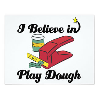 i believe in play dough personalized invitations