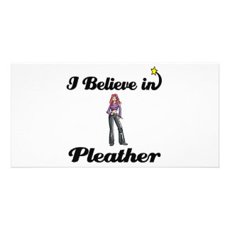 i believe in pleather photo card