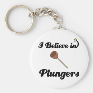 i believe in plungers keychain