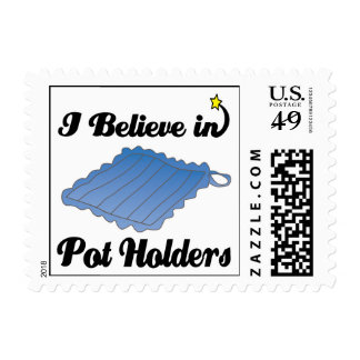i believe in pot holders stamps
