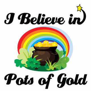 i believe in pots of gold standing photo sculpture