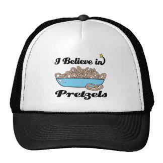 i believe in pretzels trucker hat
