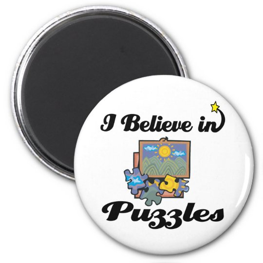 i believe in puzzles magnet