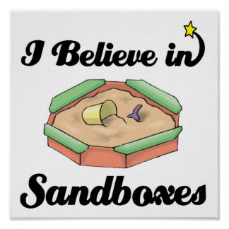 i believe in sandboxes poster