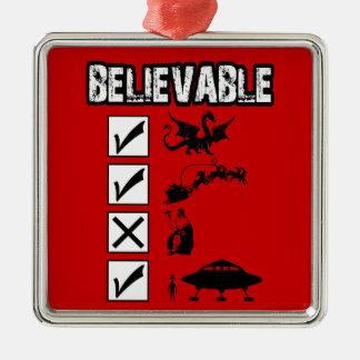 I believe in Santa Metal Ornament