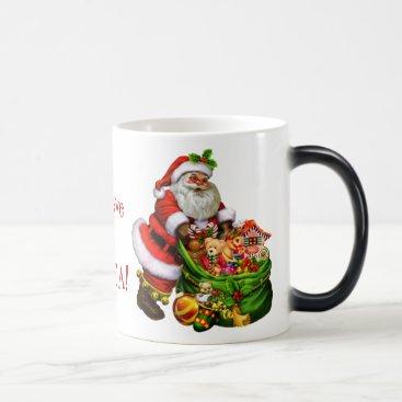 Coffee Themed I Believe in Santa mug