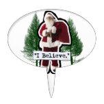 I Believe in Santa Oval Cake Picks