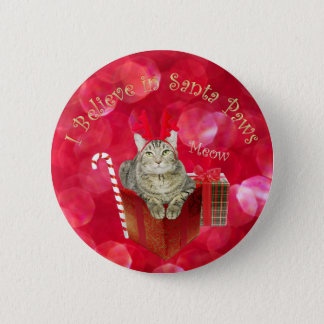 I Believe in Santa Paws Button