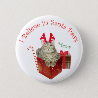 I Believe in Santa Paws Pinback Button