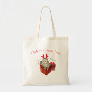 I Believe in Santa Paws Tote Bag