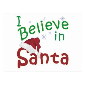I Believe in Santa Postcard