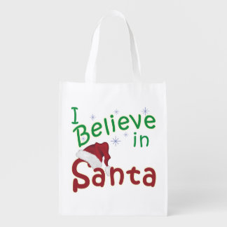 I Believe in Santa Reusable Grocery Bag
