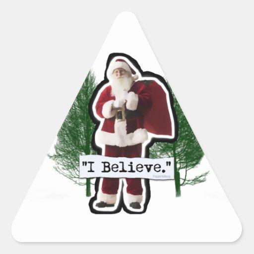 I Believe in Santa Sticker
