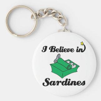 i believe in sardines keychain