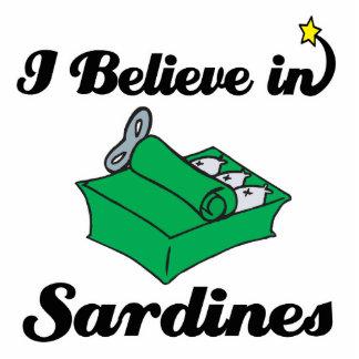 i believe in sardines standing photo sculpture