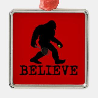 I believe in Sasquatch Metal Ornament