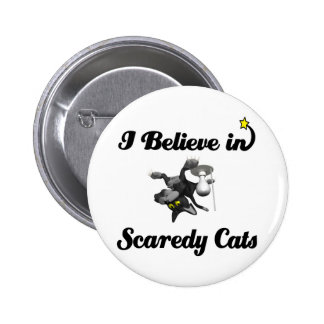 i believe in scaredy cats pin
