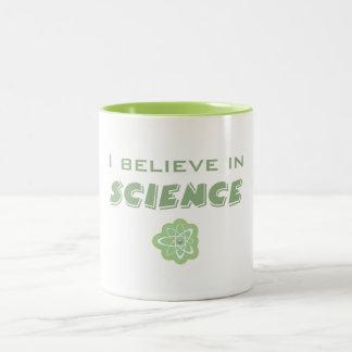 I Believe In Science Two-Tone Coffee Mug