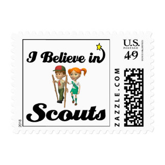 i believe in scouts postage stamp